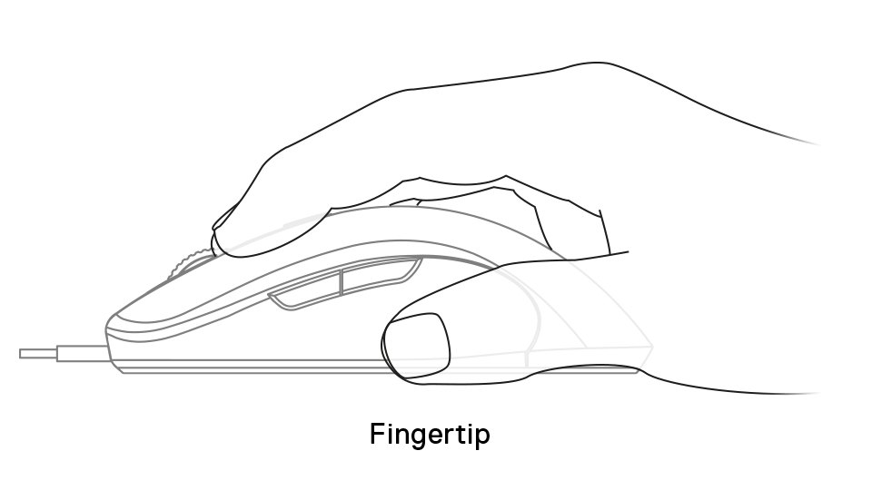 Sensei Ten fingertip grip example