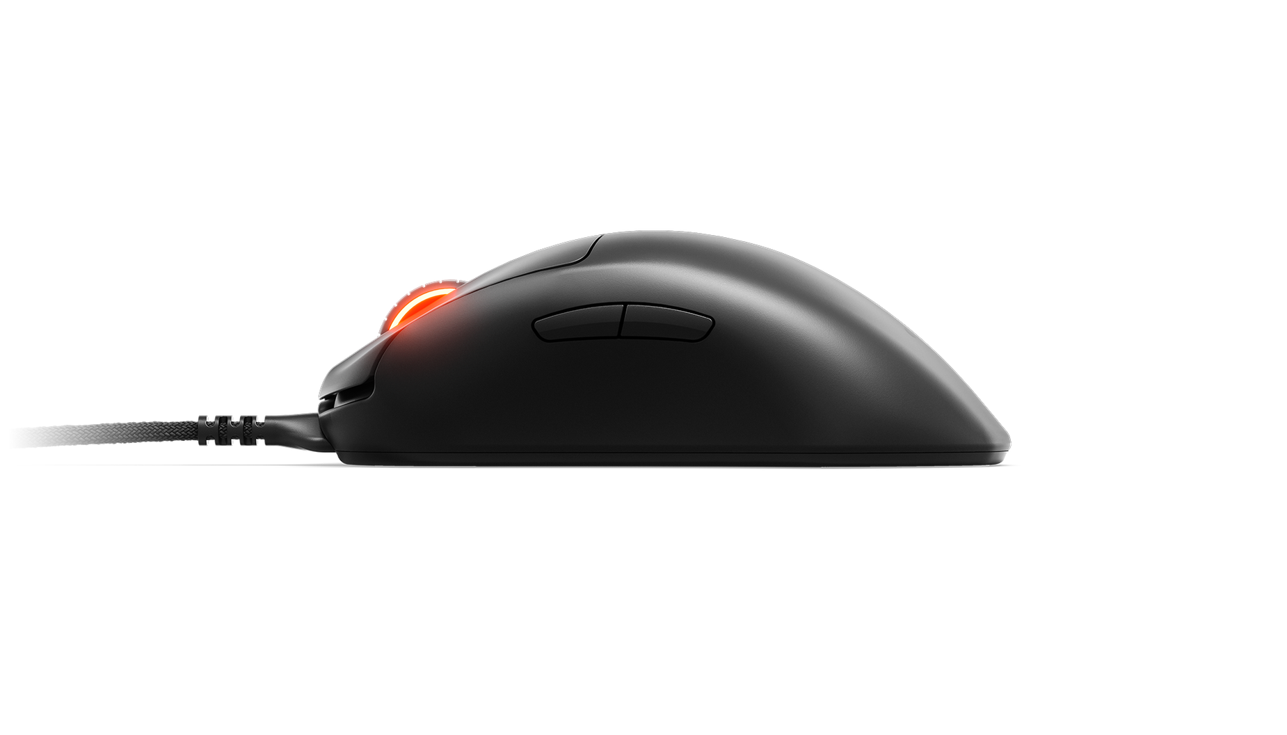 A side view of the Prime + mouse.