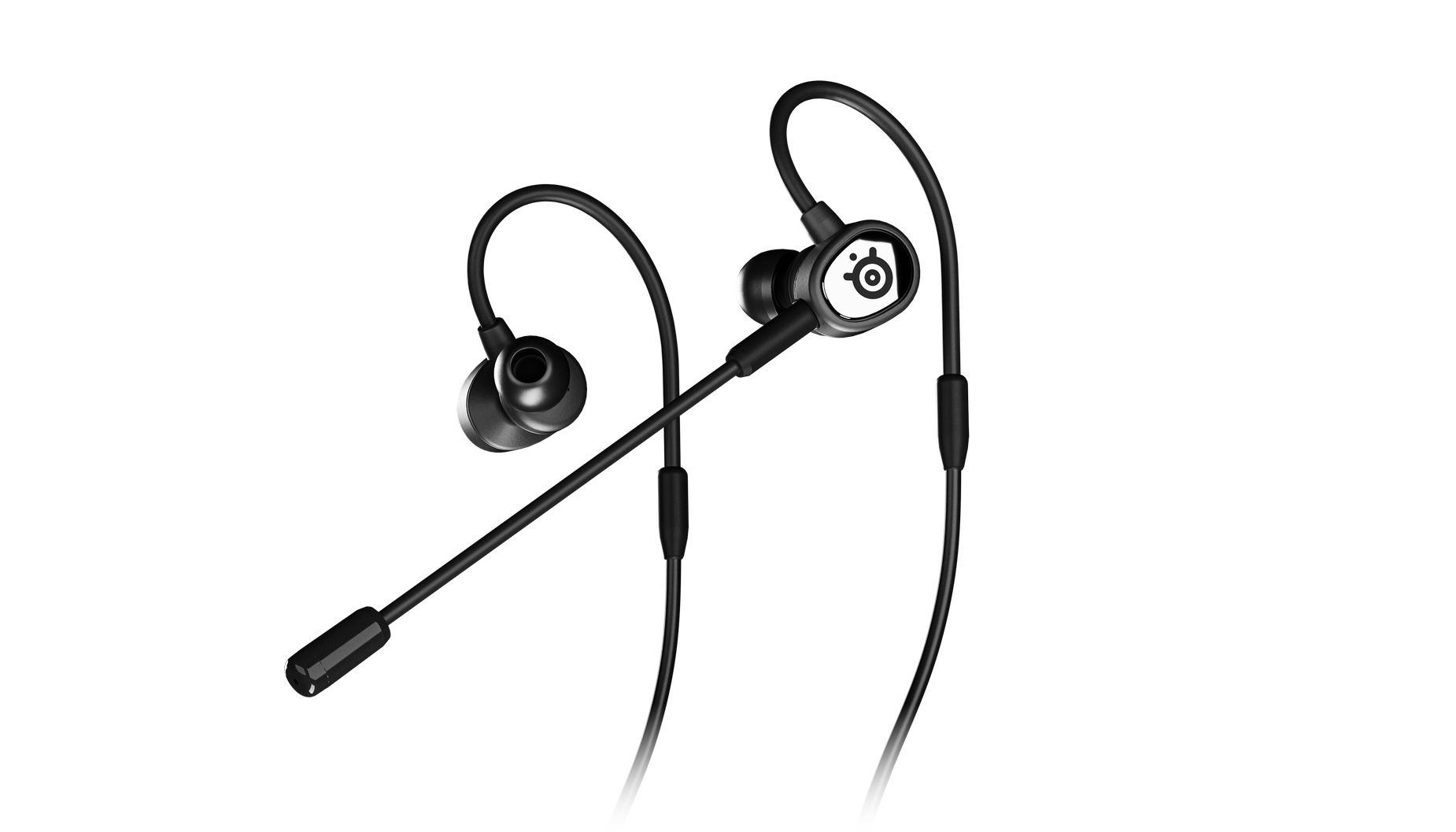 Angled Tusq headset with microphone attached