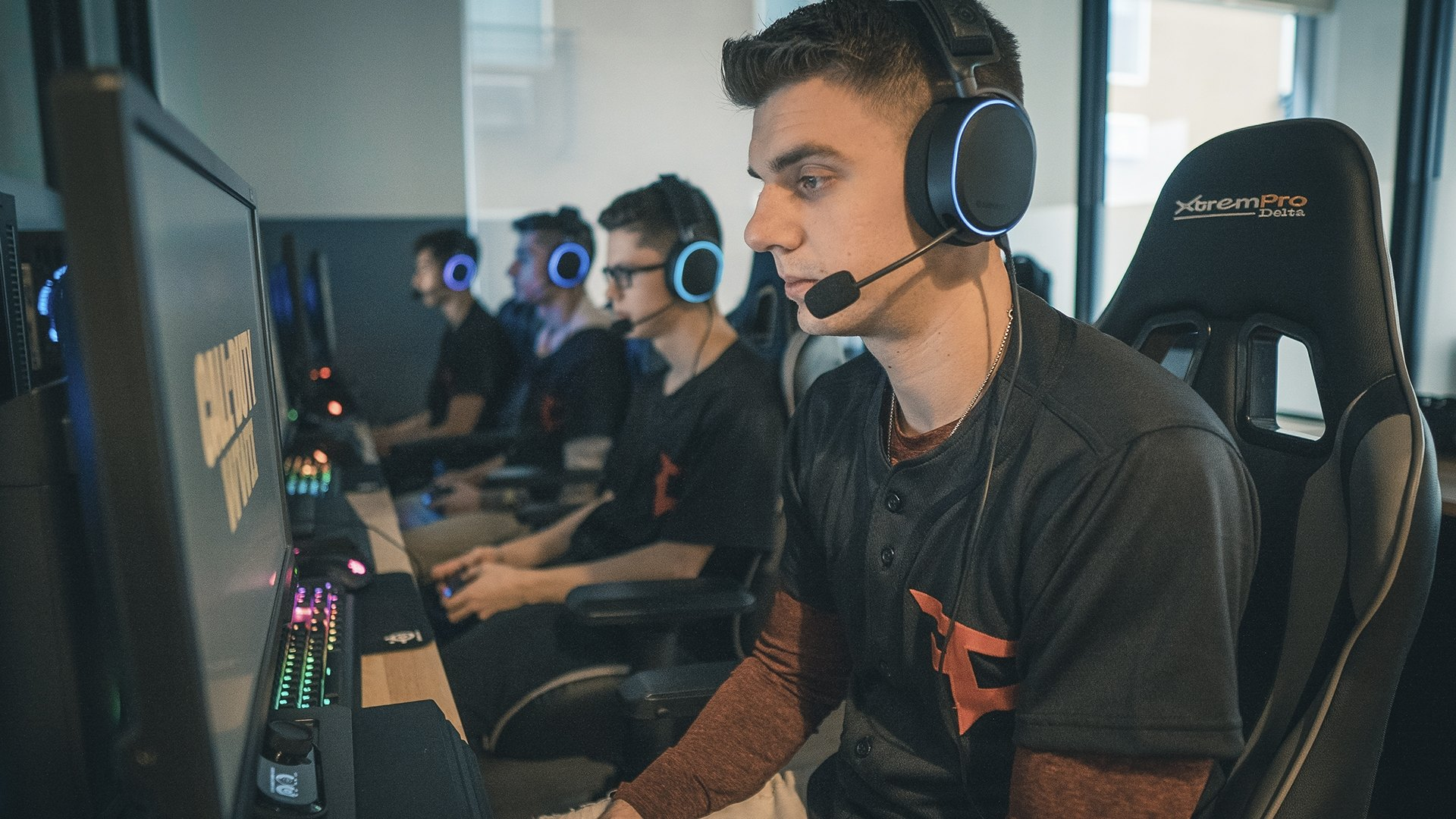FaZe esports team lined up wearing Arctis headsets