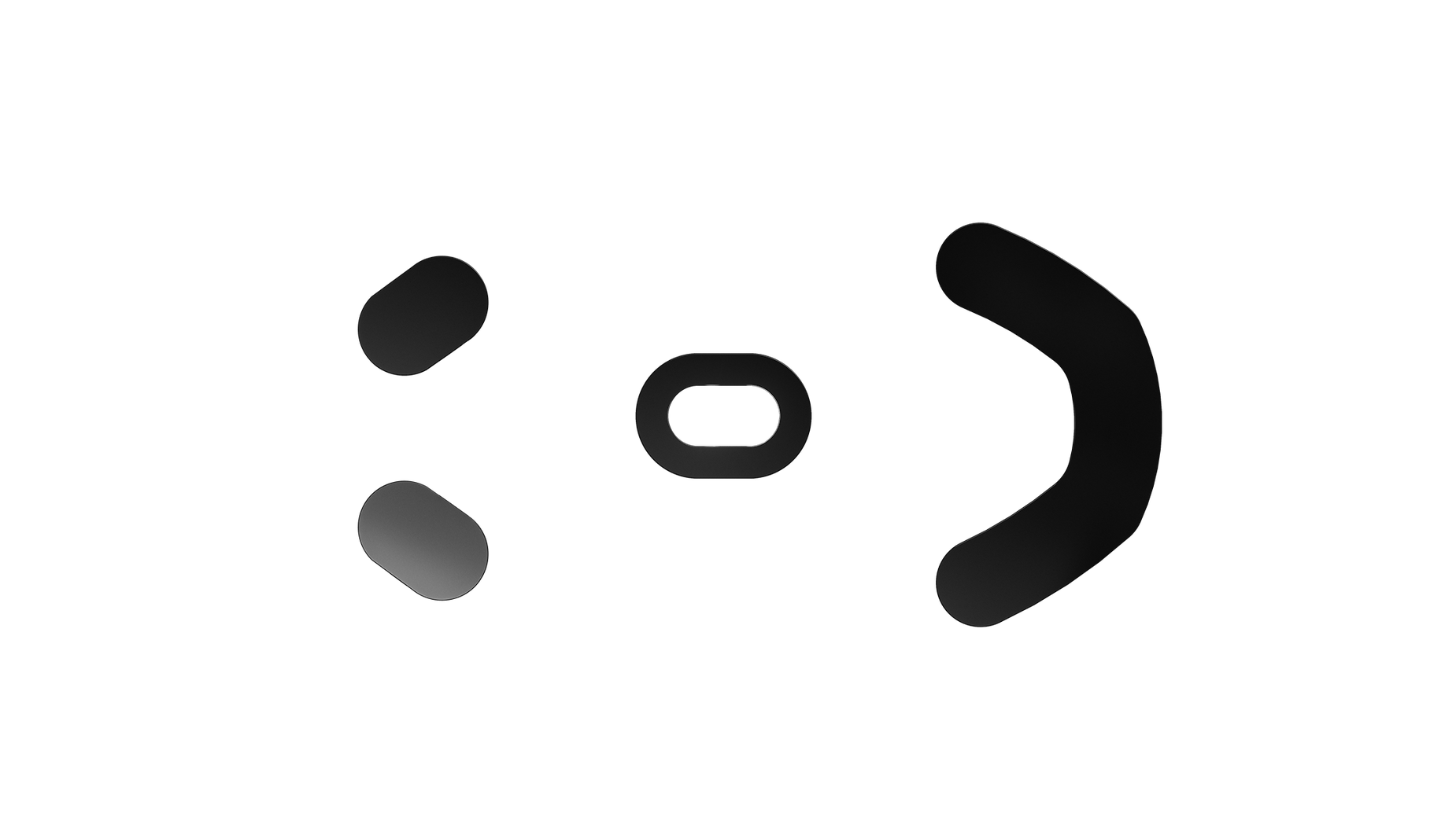 Overhead view of the mouse glides for the Prime gaming mouse feet.