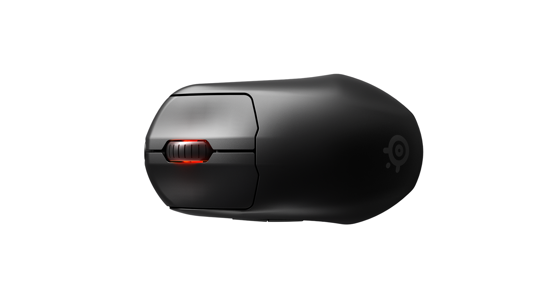 A top-down view of the Prime Wireless mouse.