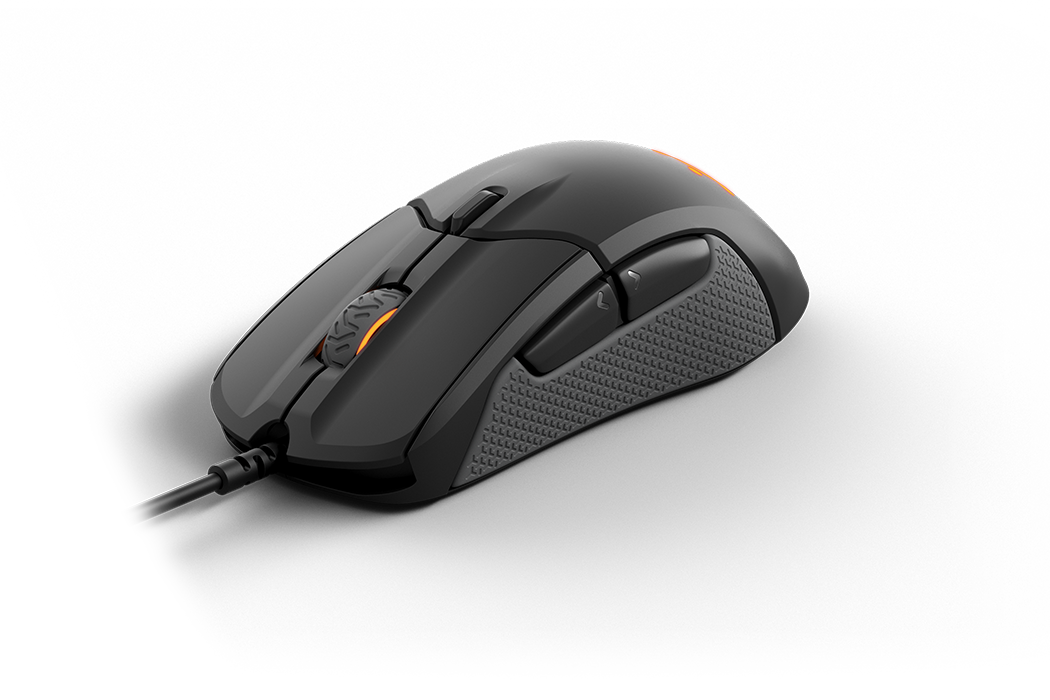 Rival 310 gaming mouse, front view