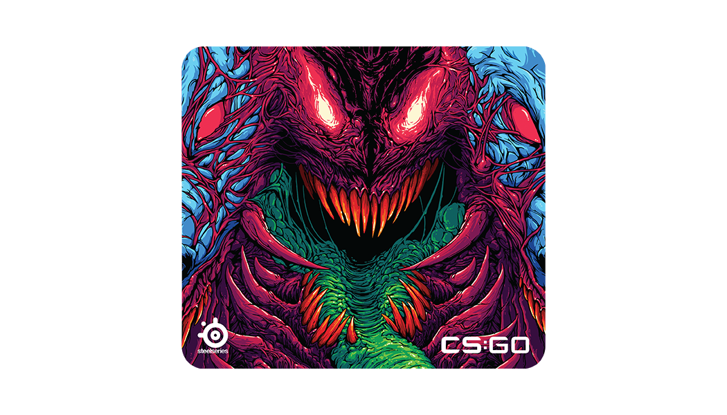 QcK+ front angle with CS:GO Hyper Beast artwork