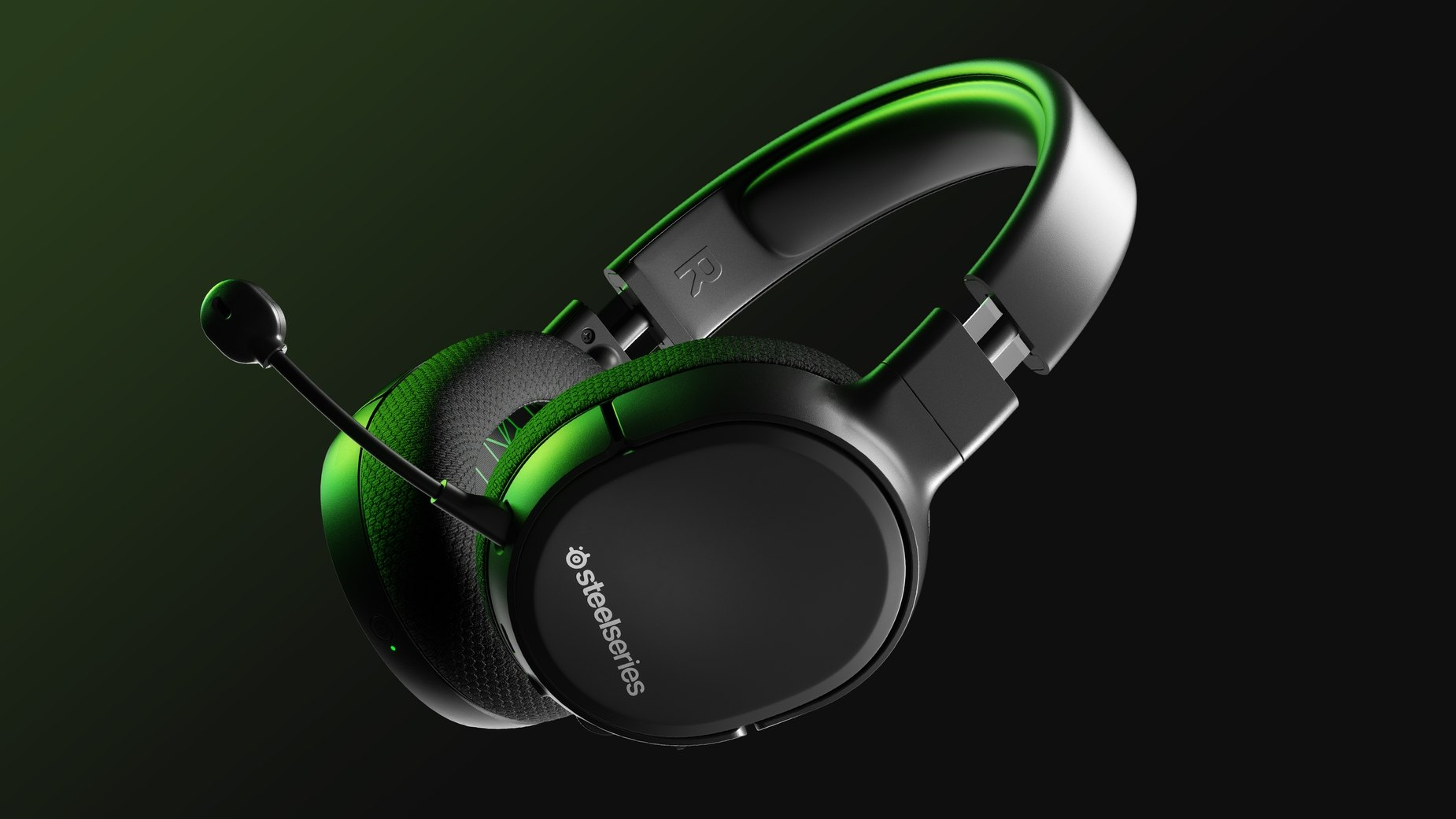 Arctis 1 Wireless for Xbox gaming headset on a table.