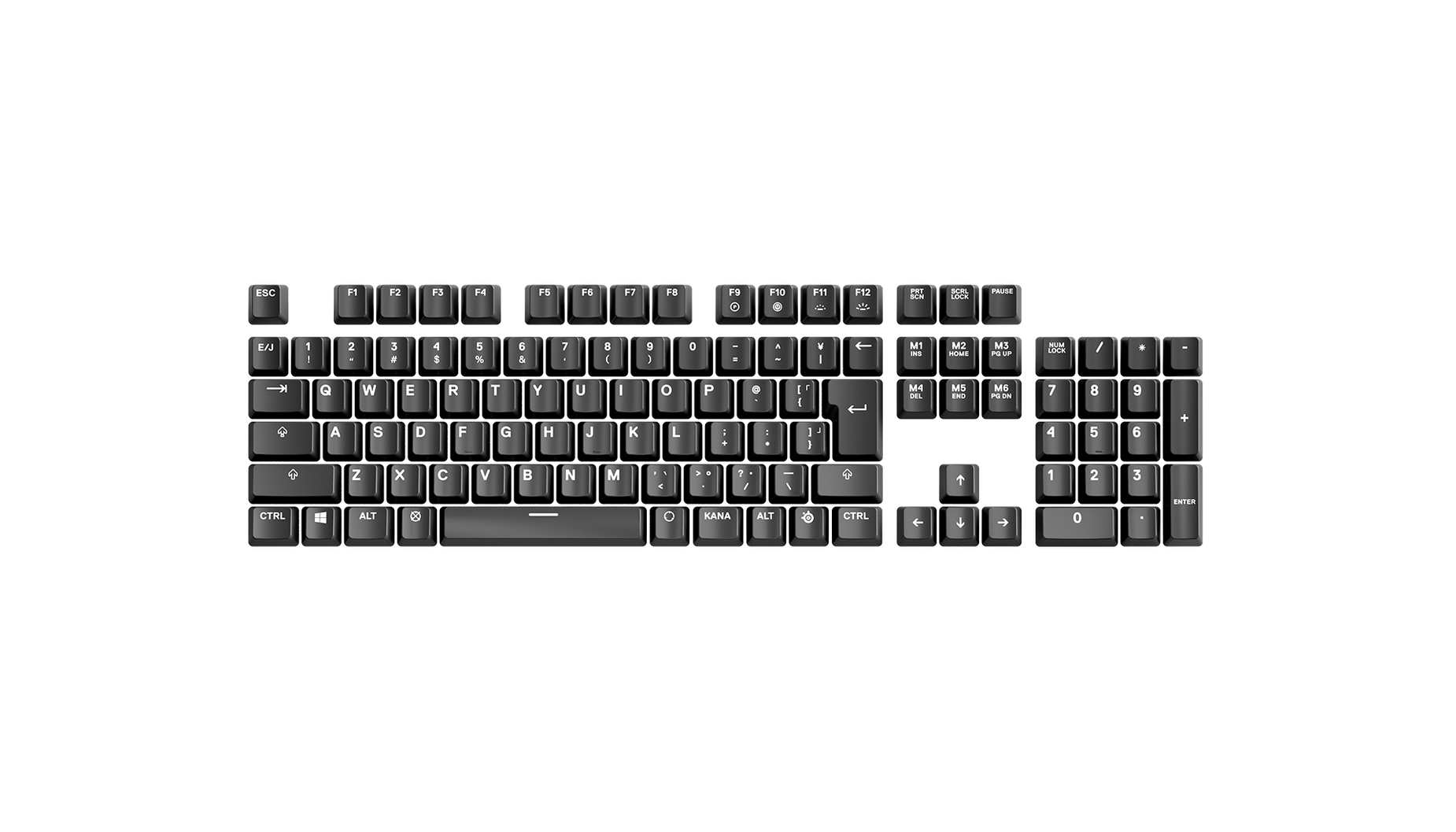Japanese Replacement keycap sets laid out in QWERTY