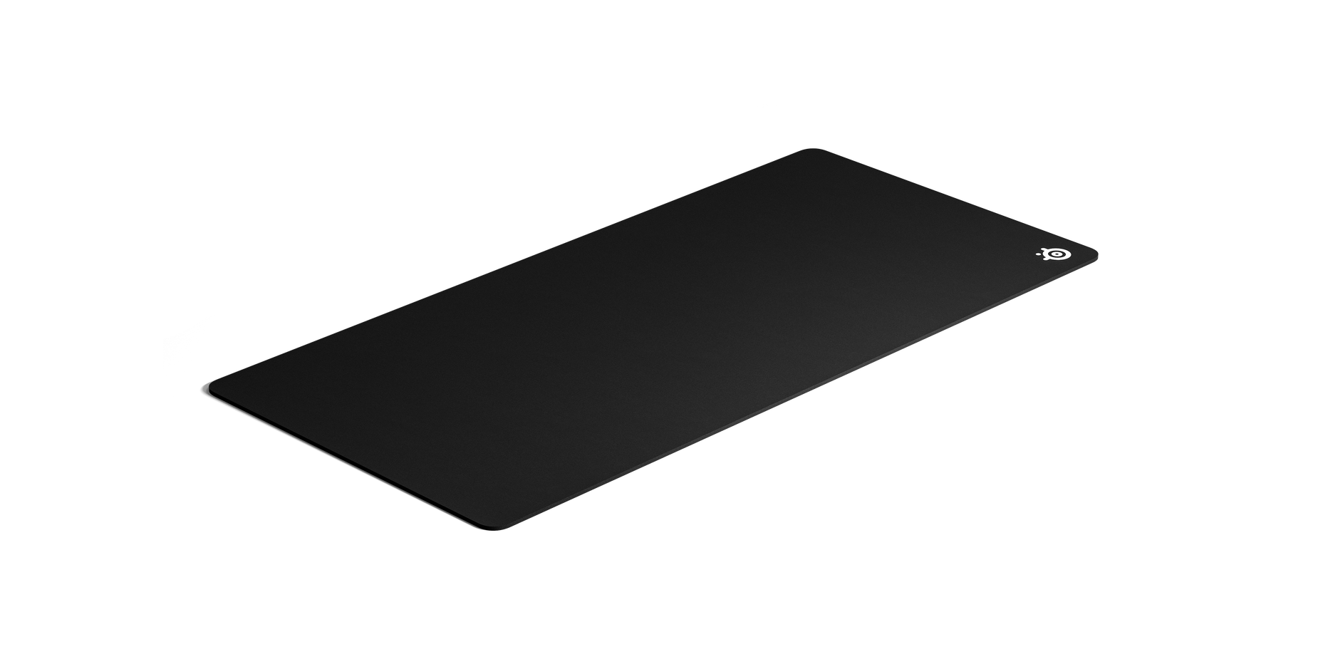 Mouse pad viewed from a quarter angle to show depth and sidings