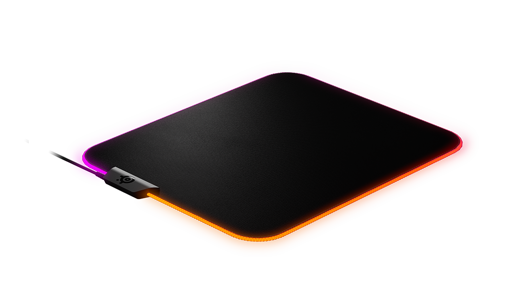 QcK Prism Medium gaming mousepad with RGB on edges