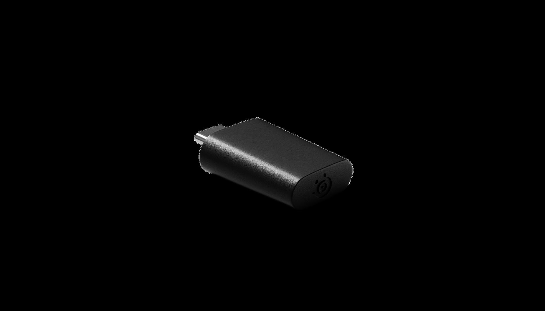 Seitenansicht des kabellosen Prime-USB-C-Dongles.