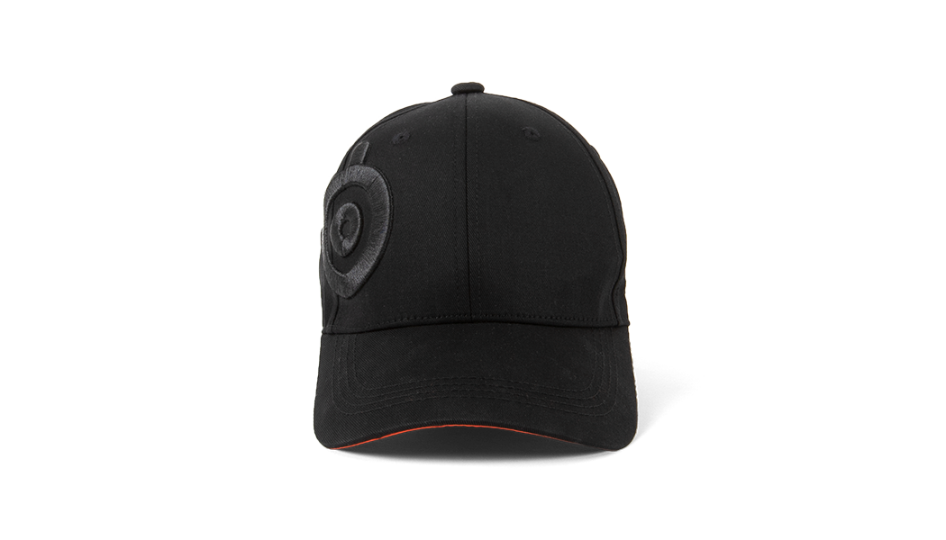 Baseball cap viewed from the front