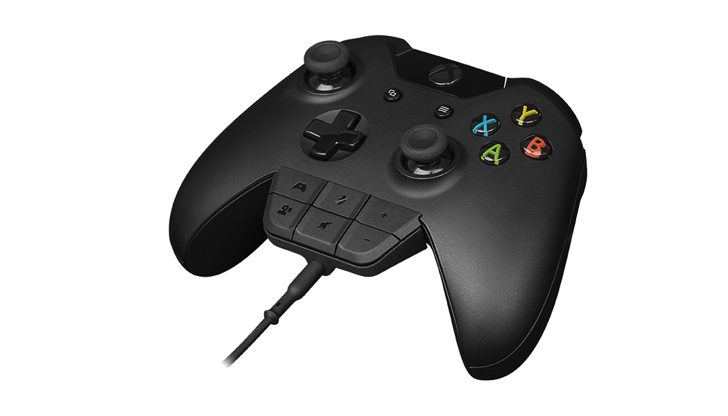 Xbox One Headset Adapter attached to xbox one controller