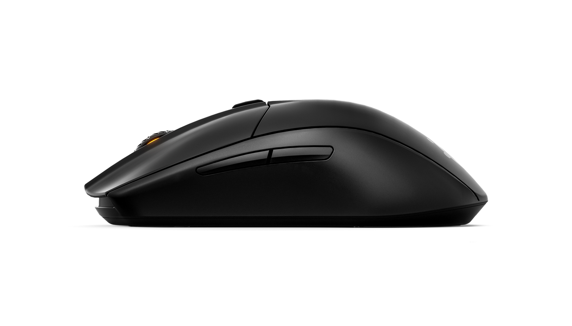 A side angle view of the Rival 3 Wireless mouse