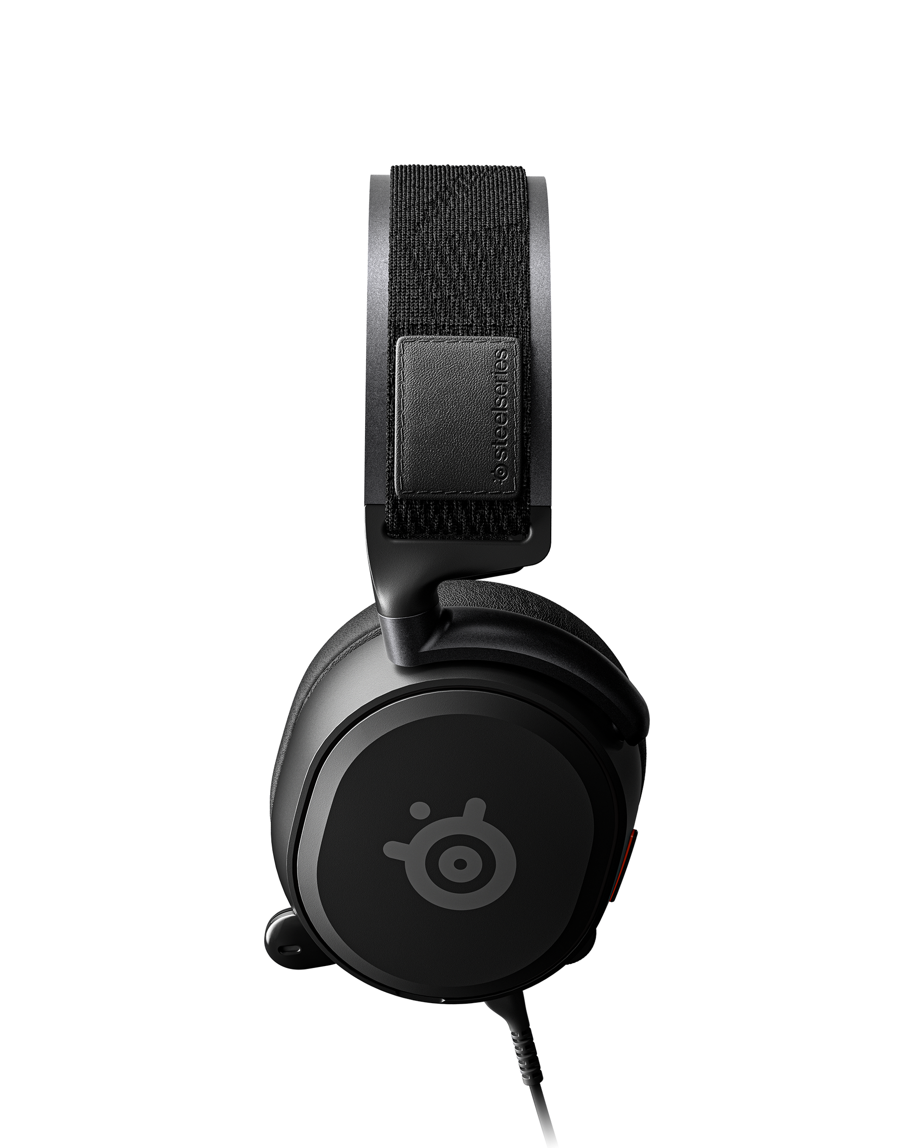 A side view of the Arctis Prime showing off its earcups and headband.