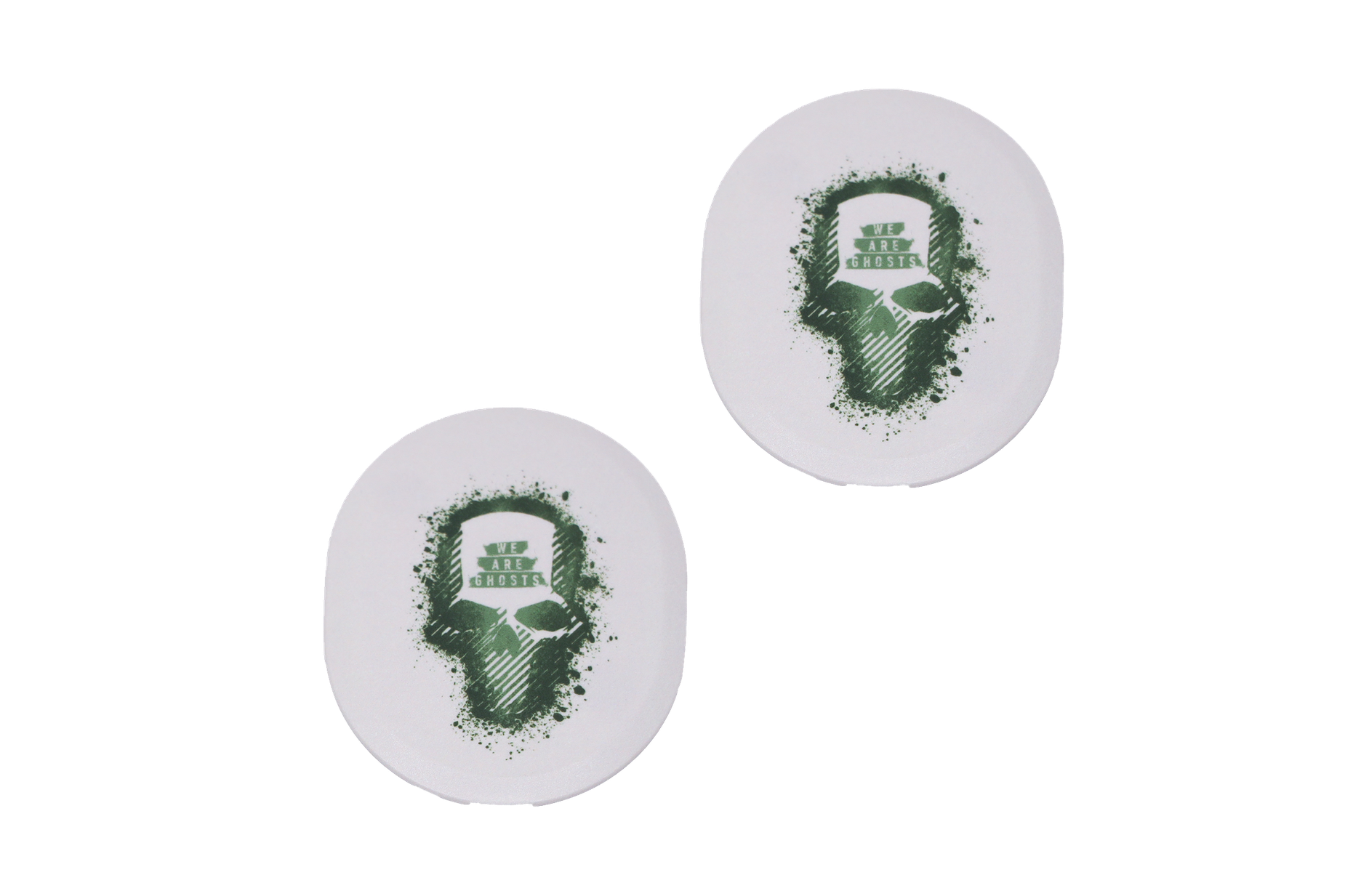 Two Arctis Pro speaker plates designed with the Ghost Recon style