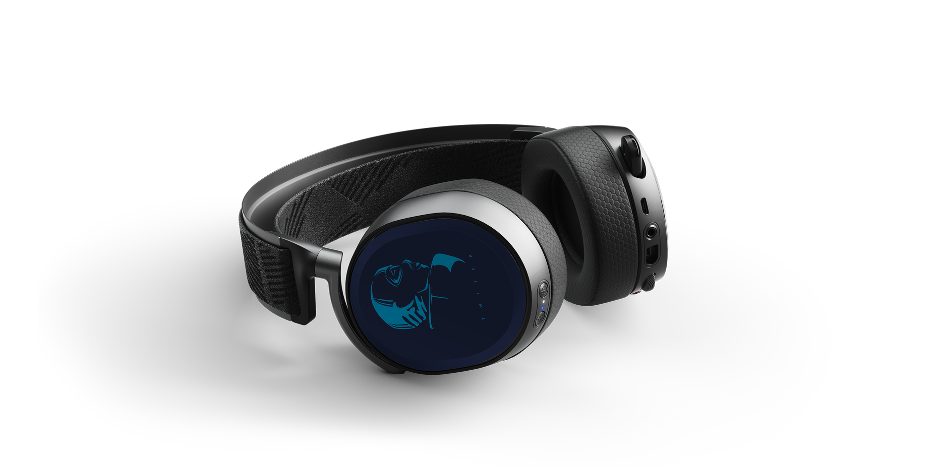 Headset render with Rainbow Six speaker plates on each side of the earcup