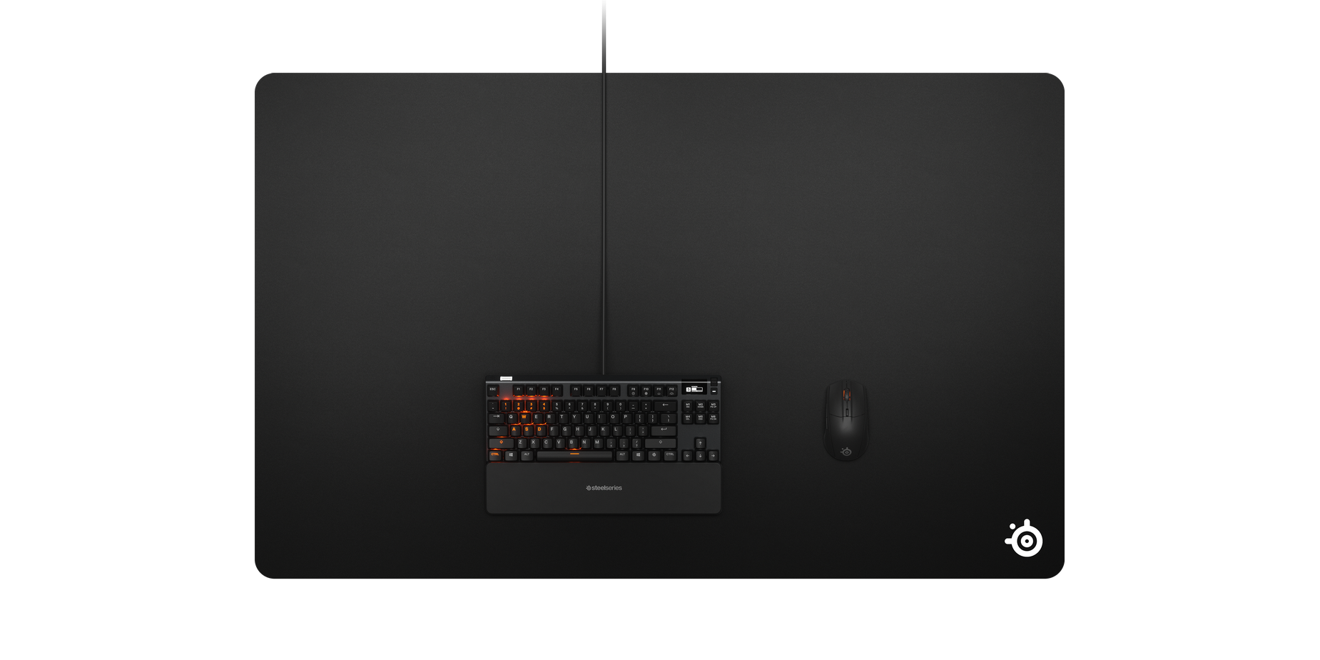 A birds eye view of the mousepad showing the dimensions